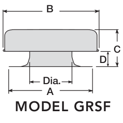 FLAT ROOF CAPS - FLASHING FLANGE - MODEL GRSF